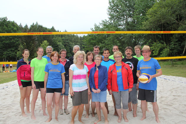 Beachvolleyballturnier 2015 am Bursweiher